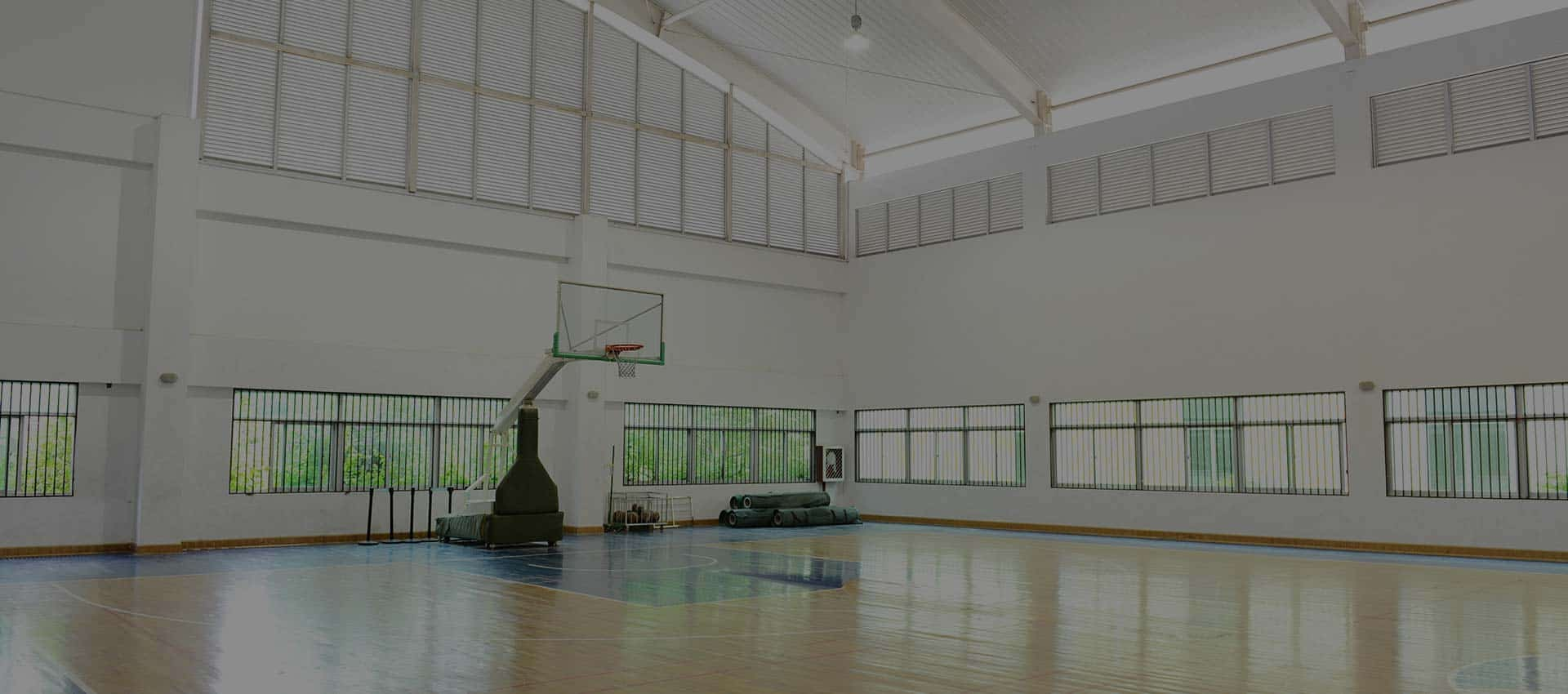 Modern Lighting in a school gymnasium